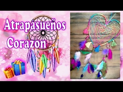 Como hacer un atrapasueños corazon: Un regalo original -Dream Catcher -DelCarmenArtesanal-