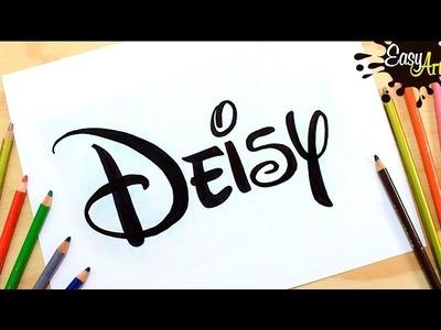 Dibujos nombres de niña DISNEY .Drawing baby girl names DISNEY. Easy Art