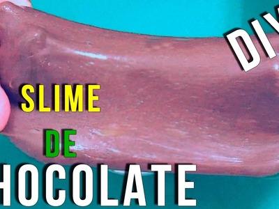 DIY   SLIME  DE CHOCOLATE SIN BORAX    NO COMESTIBLE   BLANDIBLÚ