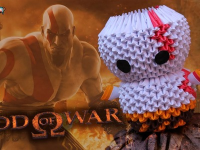 Kratos (God of War) 3D Origami | Pekeño ♥