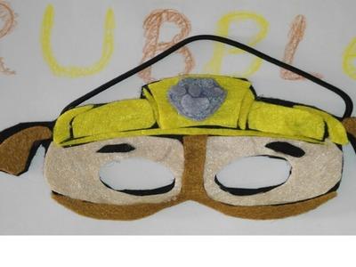 Mascara o careta de la patrulla canina Rubble paw patrol dibujos animados actuales Manolidades