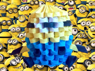 Minion de Origami 3D - Tutorial