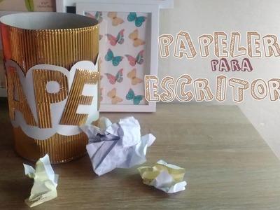Papelera hecha con cartón corrugado│Candy Bu