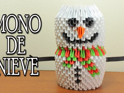 Snowman. Mono De Nieve Origami 3D