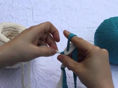 Tejer un cordon con los dedos