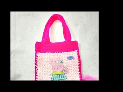 Asa para bolsa tejida a crochet