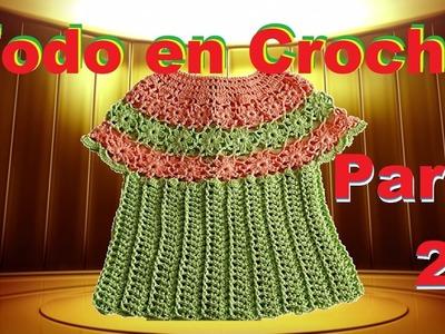 Blusa, Capa primaveral paso a p'aso - Flores en Crochet parte 2 de 2