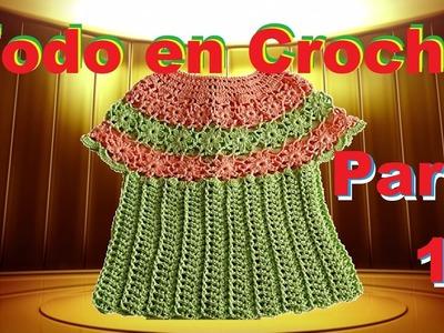 Blusa, Capa primaveral paso a p'aso - Flores en Crochet parte 1 de 2