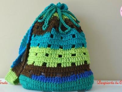 Bolso para ir a la playa, a crochet, paso a paso