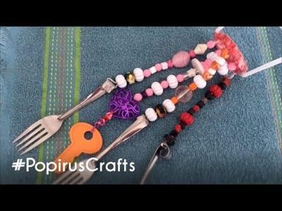 Cómo hacer campanas de viento caseras |DIY |Popirus Crafts ????????
