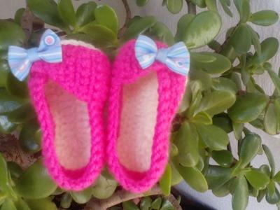 Como hacer Sandalias para bebe en Crochet