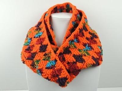 Crochet: Bufanda Infinita en Rombos
