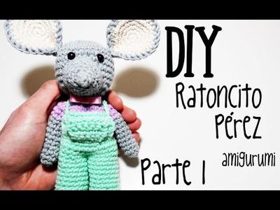 DIY Ratoncito Pérez Parte 1 amigurumi crochet.ganchillo (tutorial)