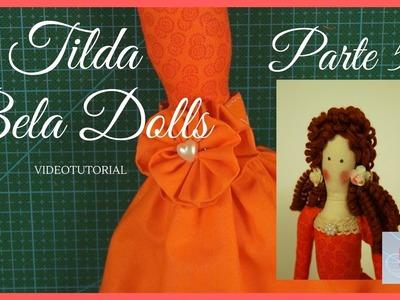 DIY - Tutorial Muñeca Tilda Parte 5 - Bela Dolls - Adornar falda para muñeca de trapo