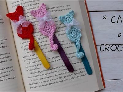 Gató Marcapáginas de ganchillo I Crochet CAT I Cucaditasdesaluta