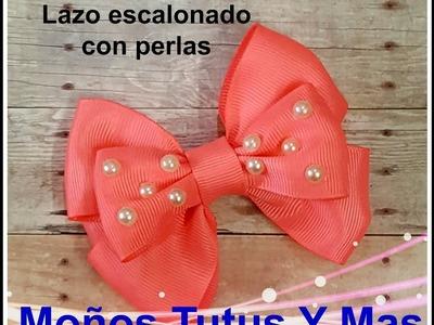LAZO ESCALONADO Paso a Paso STACKED HAIR BOW Tutorial DIY How Make Bows To PAP