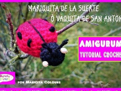 Mariquita de la Suerte a crochet Amigurumi por Maricita Colours Vaquita de San Antonio