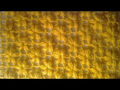 Muestra punto flores a crochet