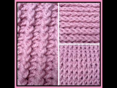 Punto de relieve por delante y por detrás a crochet. ganchillo  y algunas variaciones