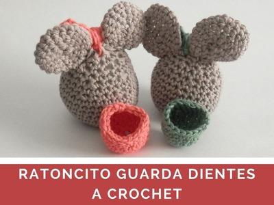 RATONCITO GUARDA DIENTES A CROCHET