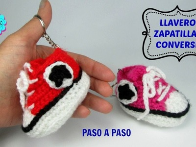 Tutorial llavero zapatillas converse a crochet