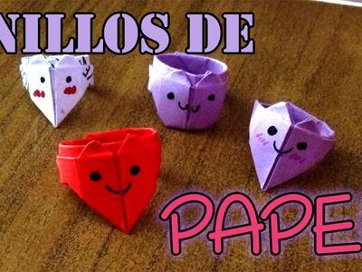 Anillos de papel fáciles (Origami) - Easy Paper Rings