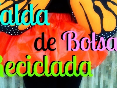 COMO HACER FALDA HECHA DE BOLSAS - RECICLADA - Skirt made of bags DIY | Marialis