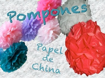 COMO HACER UN POMPON DE PAPEL DE CHINA | How To DIY Tissue Paper Pom Poms | AVanguardia
