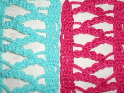 Como - punto calado primaveral en crochet - ideal para chalecos, blusas, colchas, manteles