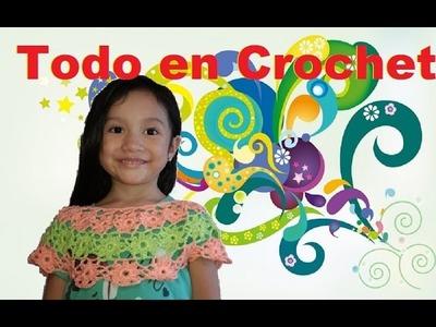 Cuello en crochet - retroalimentación - de vestido de flores parte 2 de 2