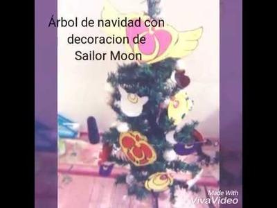 DIY.Árbol de navidad con decoración de Sailor Moon