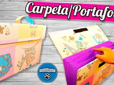 DIY | Carpeta.Portafolio Reciclando Cartón | PumitaNegraArt