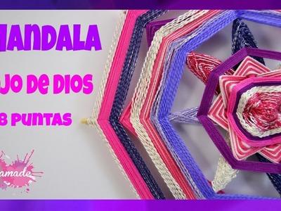 DIY. Mandala Ojo De Dios. Mandala God's Eye