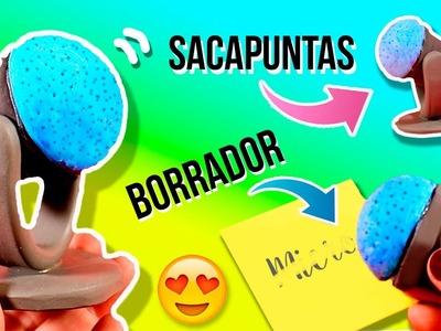 DIY Microphone ERASER & SHARPENER✏️ Un MICRÓFONO que es BORRADOR y SACAPUNTAS ✅  Top Tips