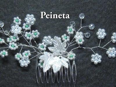 # DIY - Peineta de margaritas, con perlas y alambres