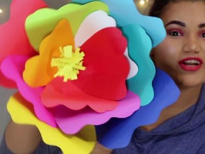 Flores gigantes de papel cartulina ????. flower big of paper ????. ????Ester