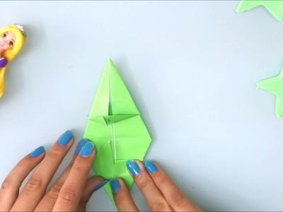 Haz un camaleón de papel origami.DIY