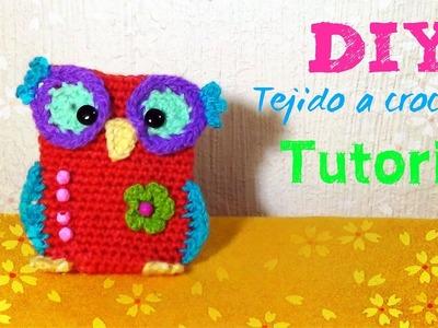 MiniMonedero BUho!! - Tejido a Crochet