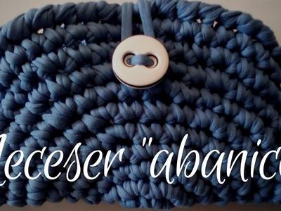 """Neceser """"abanico"""" (ganchillo. crochet)"""