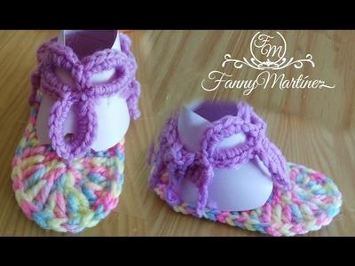 Sandalias de Verano para bebé a Crochet.Gancchillo 3M