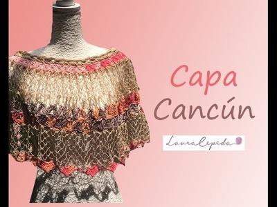 TEJE CAPA CANCÚN - Crochet Fácil y Rápido - Para Primavera Verano