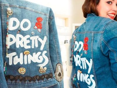 Transforma una chaqueta de Primark | DIY CHAQUETA VAQUERA | Pretty and Olé