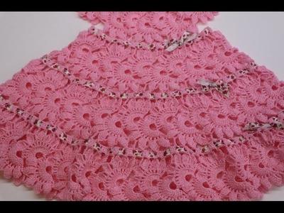 Vestido para Niña Tejido Crochet parte 2 de 2