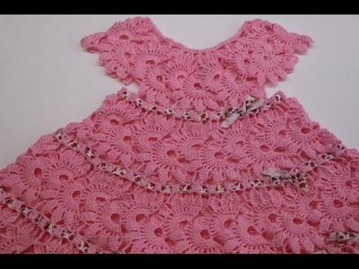 Vestido para Niña Tejido Crochet parte 1 de 2