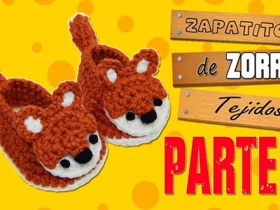 Zapatitos de Zorro tejidos a crochet  | parte 1.2