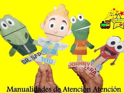 Atención Atención El Sapo y sus amigos manualidades para niños marionetas de papel
