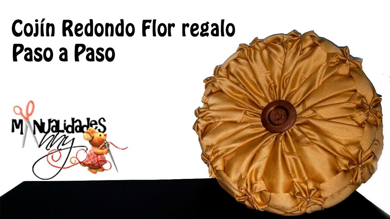 CLASE III - COJIN REDONDO - FLOR REGALO | Manualidades Anny