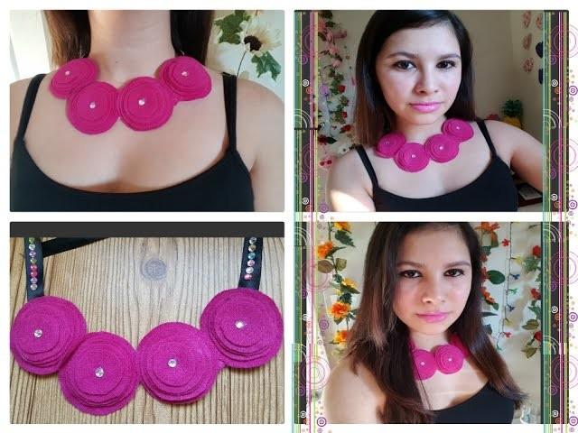 DIY como crea tu propio collar ( How to make a necklace felt)