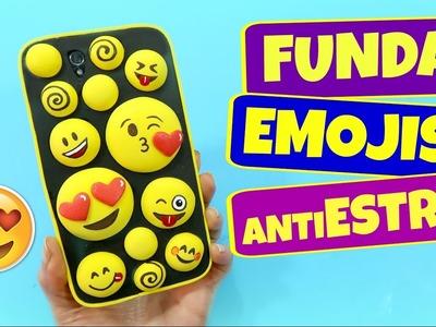 Funda casera para móvil celular de fomy emojis. Manualidades fáciles