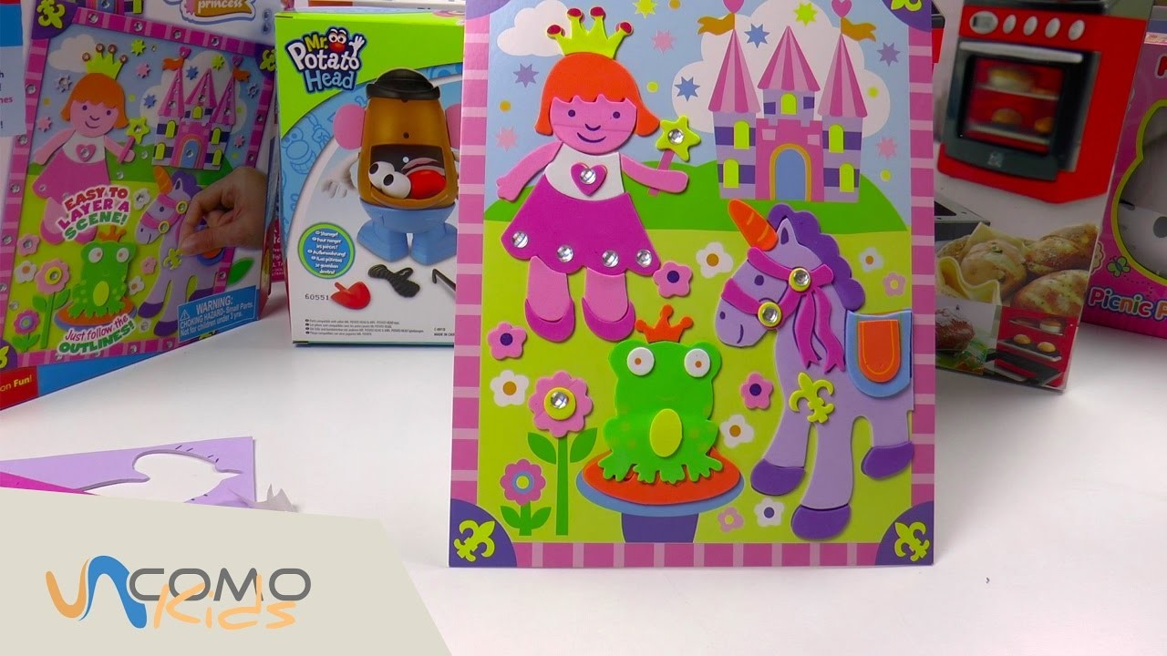 Kit de actividades con Stickers - Unicornios manualidades